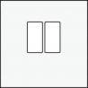 Centraalplaat luidspreker White 101-69801