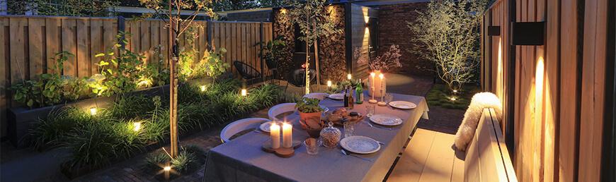 tuinverlichting en tuinpalen